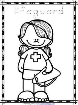 Free Community Helpers Tracing and Coloring Pages by The Notebooking Nook