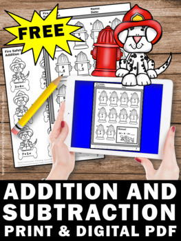Free Fire Safety Activities Kindergarten Addition and