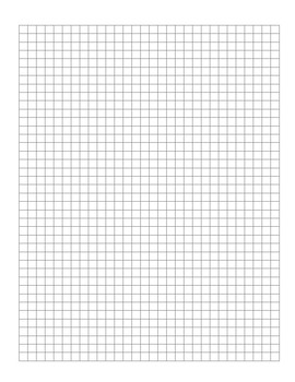 Free Graph Paper Template (30 x 40 Squares) by Escape Room
