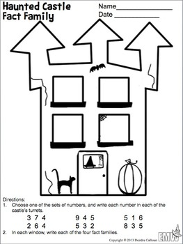 Free: Halloween Fact Family Worksheets by Evil Math Wizard
