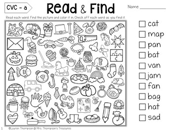 Free Hidden Picture Activities by Mrs Thompson's Treasures