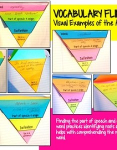 also free interactive vocabulary flip book activity common core aligned rh teacherspayteachers