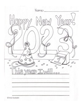 Free New Year's Resolution Fun Worksheet for 2018 by