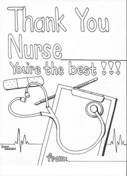 Free Nurses' Appreciation Writing/Drawing Pages by