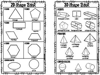 2D and 3D Shapes Freebie STAAR Geometry Test Prep by