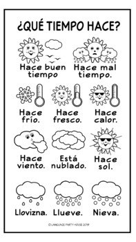 Free Spanish Weather Poster or Handout by Language Party