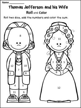Free Thomas Jefferson Coloring Page by Dana's Wonderland