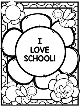 Freebie: Back to School Signs and Coloring Pages by Little