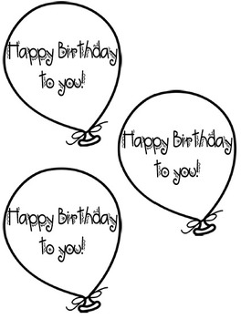 Freebie Birthday Balloons template by Little Miss Creative