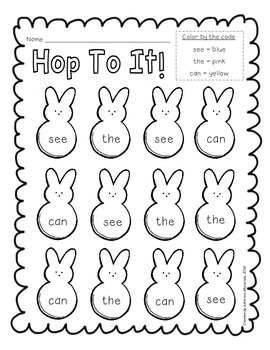 {Freebie!} Hop to it! (sight word recognition) by Adrienne