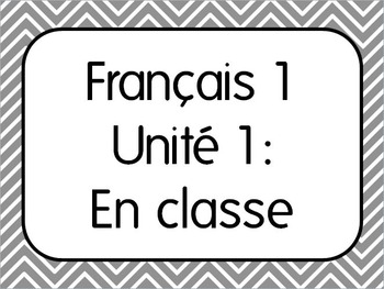 Basic French I Unit 1 for Beginners with 7 Lesson Plans