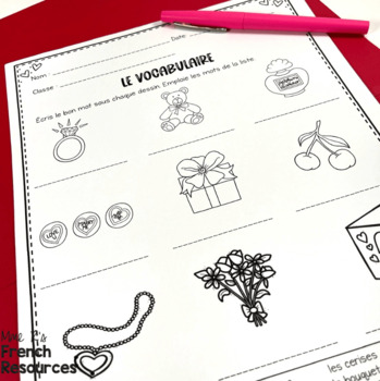 French Valentine's Day activities for middle school and