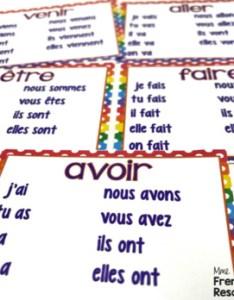 French verb chart posters regular and irregular verbs also tpt rh teacherspayteachers