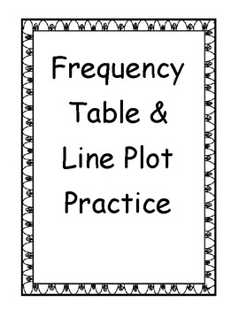 Frequency Table and Line Plot Practice by Beyond the