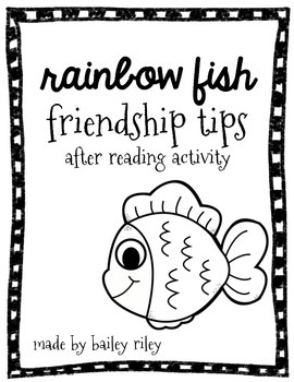 {Friendship Tips} Rainbow Fish after reading activity by