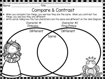 Frog Prince Themed Comprehension Activities for First