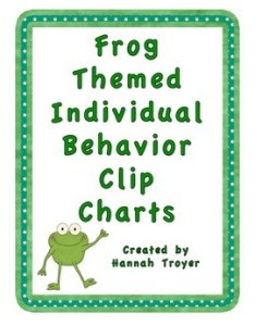 also frog themed inidual behavior clip charts by avant garde eruditions rh teacherspayteachers