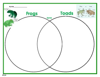 frog and toad venn diagram vw golf mk1 cabrio wiring to help compare contrast by teacherlcg