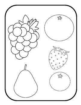File Folder Game--Matching Fruit by Preschool in Paradise