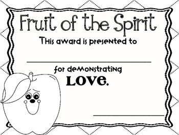 Fruit of the Spirit Awards and End of the Year