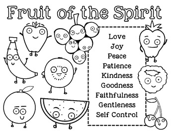Fruit of the Spirit Unit Bible Lesson for Kids by Doodle