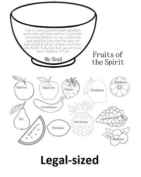 Fruits of the Spirit Holy Spirit Craft Confirmation