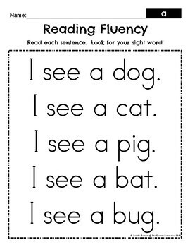 Fry 1-100 Sight Words Fluency Passages by The Connett