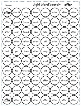 Fry 2nd 100 Sight Word Practice Sheets: Dot to Dot and