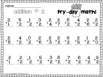 Fry-Day Math: Timed Math Addition Practice by Hashtag
