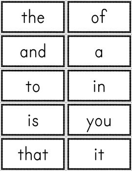 Fry First 100 Sight Word Flashcards Free By Amandas