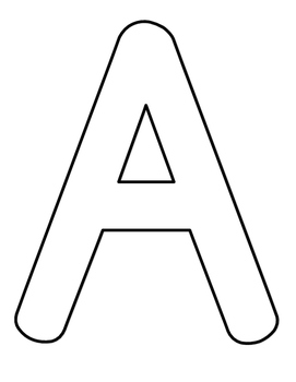 Full Page Alphabet Coloring Sheets Capital Letters by