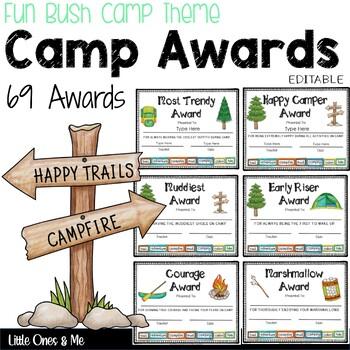 fun camp awards certificates