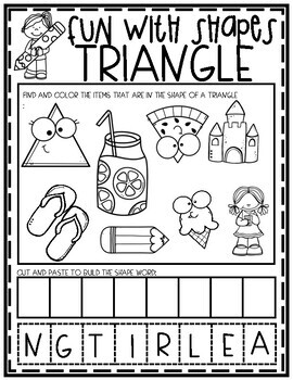 Fun With Shapes Coloring Pages And Worksheets By Preschool Packets