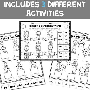 Sight Word Printables {For Use With Kindergarten Journeys
