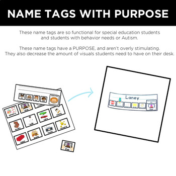 Functional Name Tags for Special Education by Simply