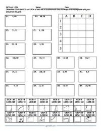 GCF and LCM Puzzle Activity Worksheet by CGR Educational ...