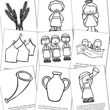 GIDEON Bible Story Coloring Pages and Posters, Craft