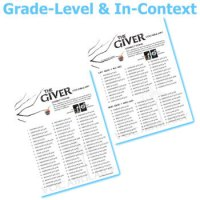 THE GIVER Vocabulary List and Quiz Assessment by Created ...
