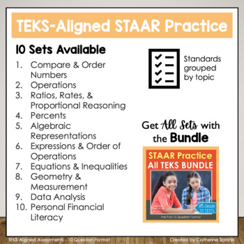 6th Grade Math STAAR Prep {Geometry & Measurement} TEKS 6