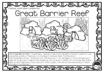 GREAT BARRIER REEF (an Australian landmark) 1 pg