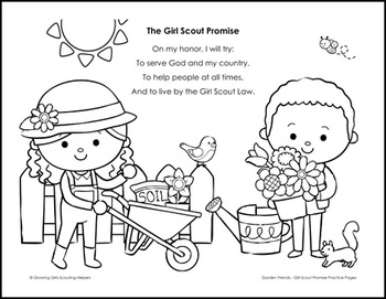 Girl Scout Promise Sheet Coloring Pages