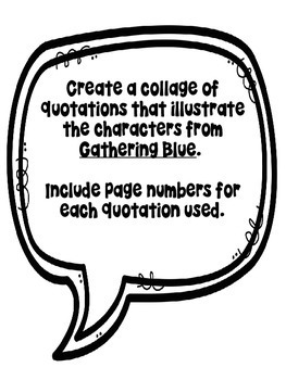 Gathering Blue Character Quote Collages by Purple Palmetto