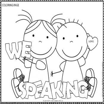Speech Therapy Pages Coloring Pages
