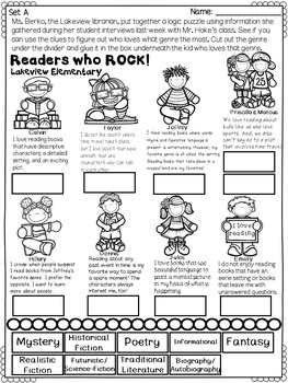 Genre Performance Tasks Printables 4th and 5th Grade