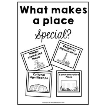 Geography Anchor Chart Special Places FREE DOWNLOAD by