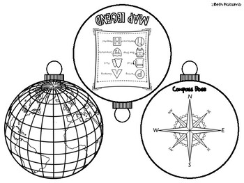 Geography Tree Christmas Ornament Activity by The Howcome