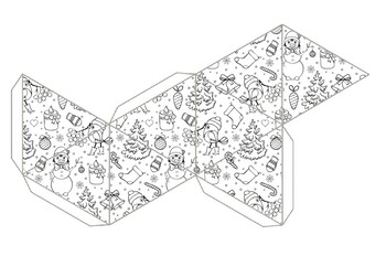 Geometric Printable Christmas Craft Templates Christmas