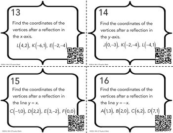 Geometric Transformations Task Cards by Mrs E Teaches Math