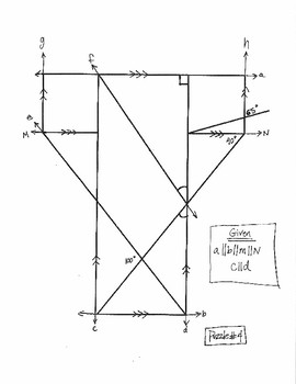 Geometry: Angle Puzzles Involving Parallel Lines Cut by
