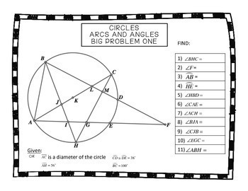 Geometry Circles Arcs and Angles Big Problems by Teaching